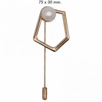 Epingle métal perle nickel free   30mm