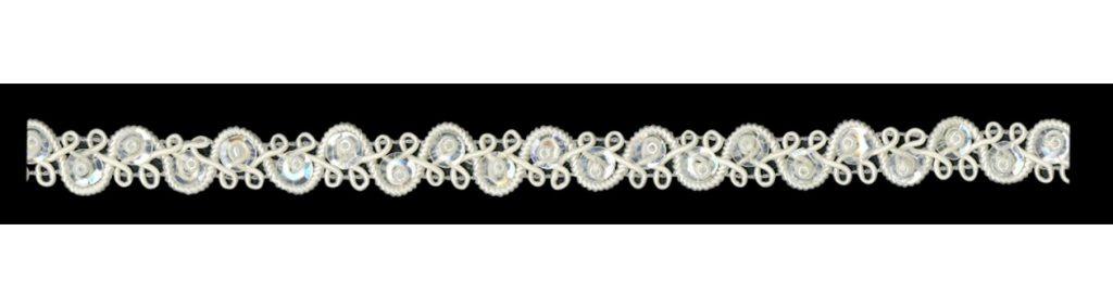Galon passementerie paillettes & perles  10mm