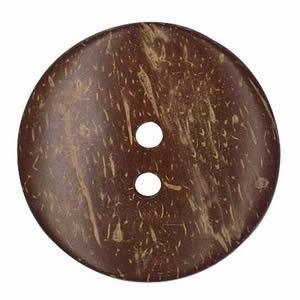 Boutons coco naturel 2 trous   9mm à 51mm