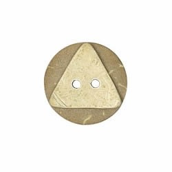Boutons coco laser triangle 2 trous   15mm à 23mm
