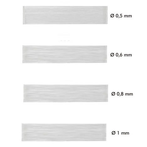 Fils nylon élastique x 100m   0.5mm à 1mm