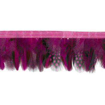 Frange plumes à points   65mm