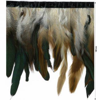Franges plumes de coq   180mm