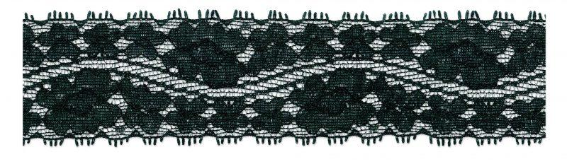 Dentelle élastique nylon fleur 40mm