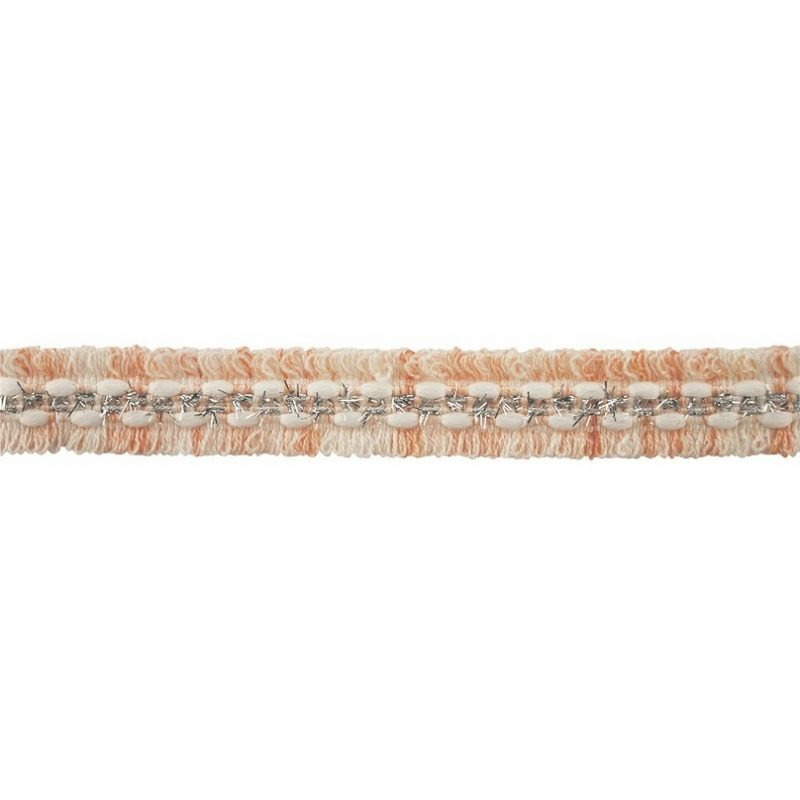 Galon fils argenté et frange 20mm