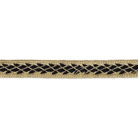 Galon passementerie tressé métallisé   11mm
