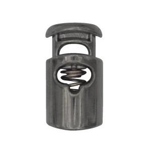 Arrêt de cordon nylon métallisé   19x24mm