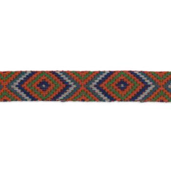 Galon tressé motif ethenique géometrique   20mm