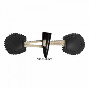 Brandebourg poly + coton  16,5 x 5cm