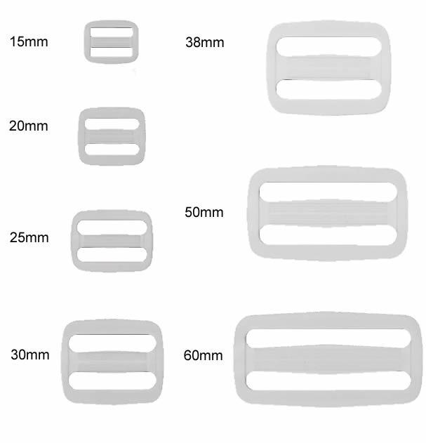 Boucle à coulisse sac nylon   015 à 060