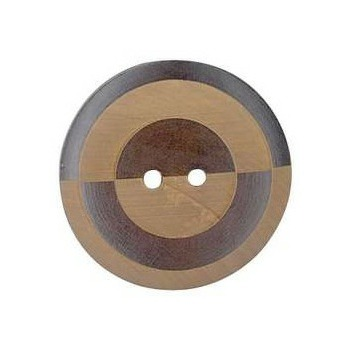 Boutons bois 2 trous gravé laser   12mm à 44mm