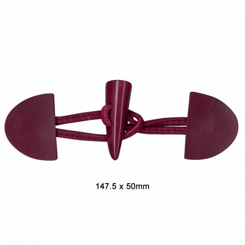 Brandebourg cuir  147.5 x  50mm