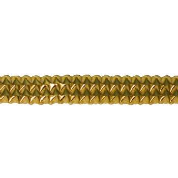 Galon passementerie métallisé poly + lurex  ref 460119   11mm