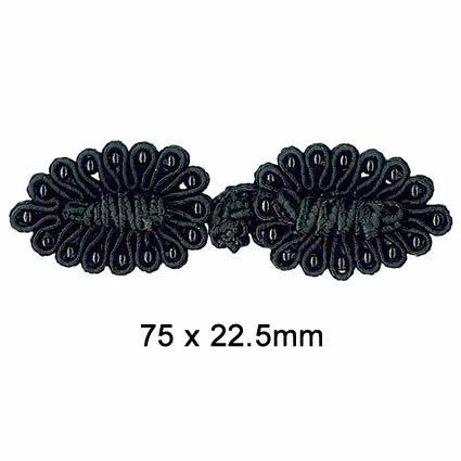 Brandebourg rayonne perles   75x225mm