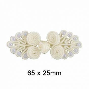 Brandebourg rayonne perles   65x25mm
