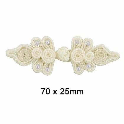 Brandebourg rayonne perles   70x25mm