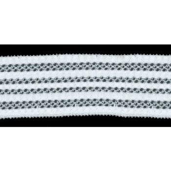 Dentelle entre deux nylon élastique  ref 541200   28mm