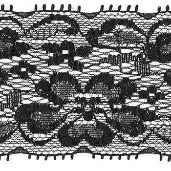 Dentelle élastique nylon    63mm