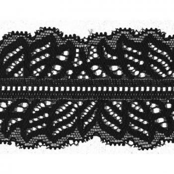 Dentelle nylon élastique   50mm