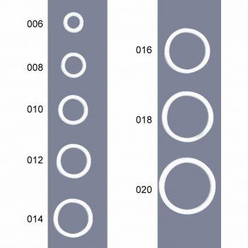 Anneaux soutien-gorge nylon métal   Ø6mm à Ø20mm
