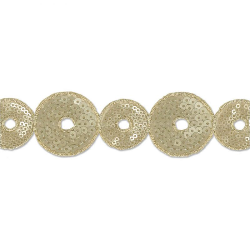 Galon cercles avec sequins   40mm