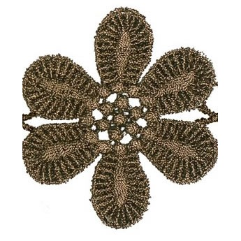 Guipure fleur métallisé   60mm
