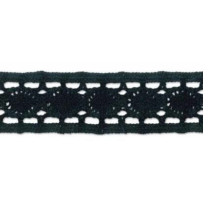 Dentelle entre deux ajourée coton   25mm