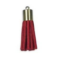 Pompon suedine enbout métal   30mm