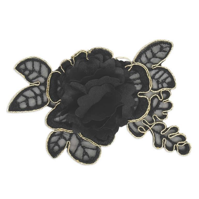 Application fleur lamé