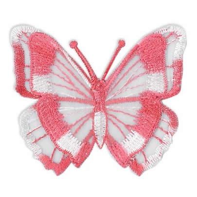 Papillon brodé sur tulle