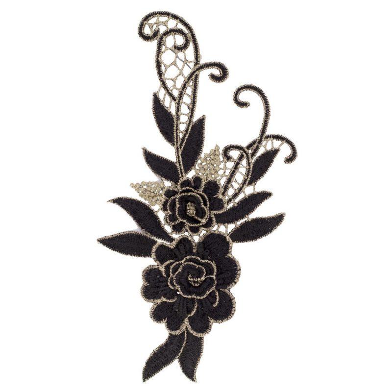 Application fleurs dentelle