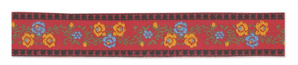 Ruban brodé fleurs    26mm