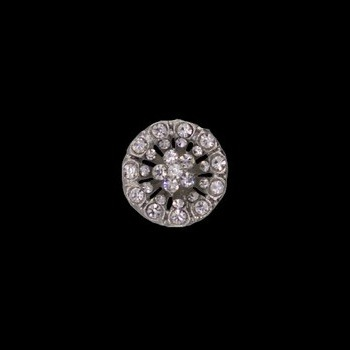 Boutons métal cristal   18mm