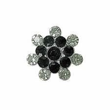 Boutons métal & cristal à pied      036mm 23mm à 036mm