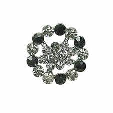 Boutons métal & cristal à pied    040mm 26mm à 040mm