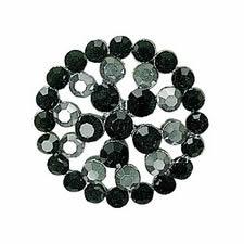 Boutons métal & cristal à pied    048mm 30mm à 048mm