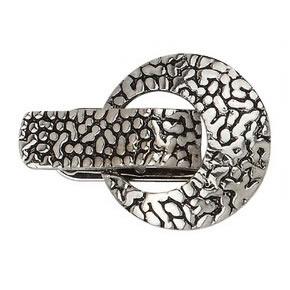 Broche pince métal martelé
