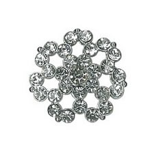 Boutons strass à pied nickel free   27mm