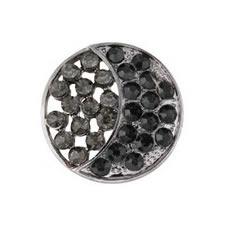 Bouton à pied strass & métal nickel free    19mm à 26mm