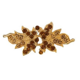 Broche métal & strass nickel free    52mm