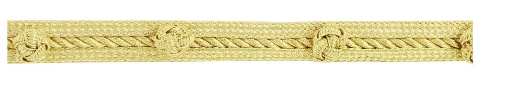 Galon passementerie lurex uniforme 14mm