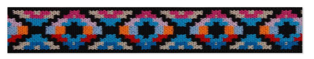 Elastique éthnique multicolor     25mm
