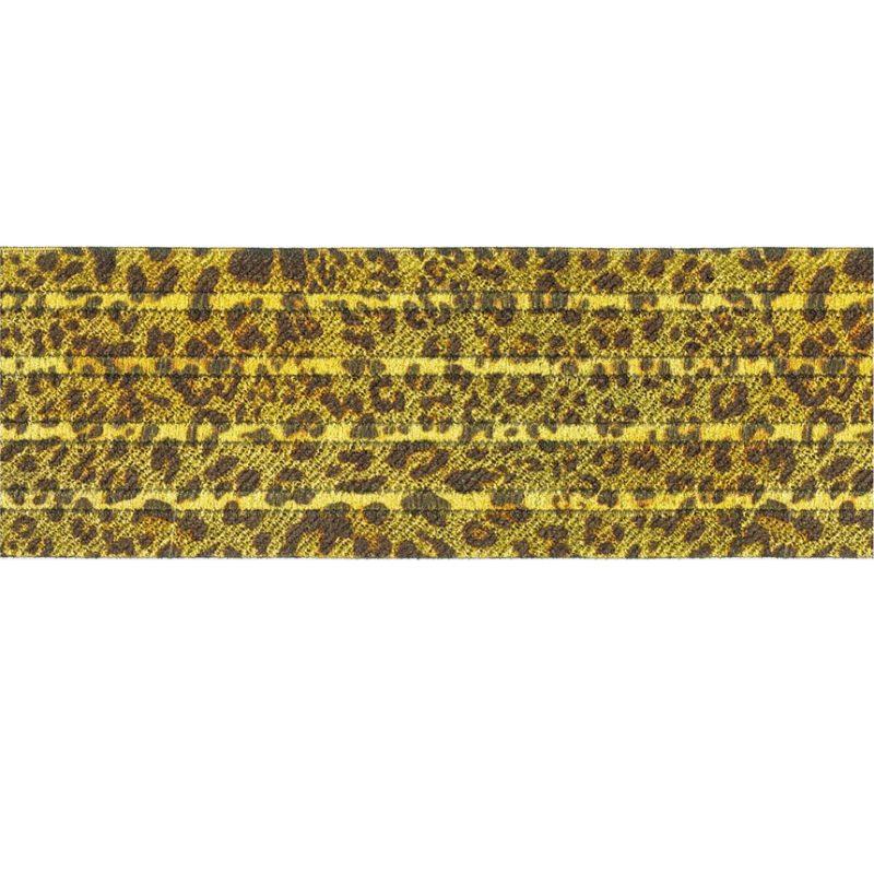 Elastique motif léopard 60mm