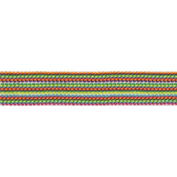 Elastique multicolor bayadère   25mm à 60mm