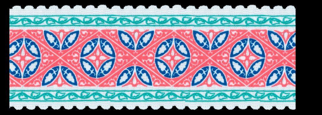 Elastique motif géometrique   60mm