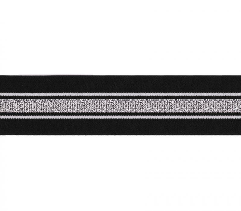 Elastique à rayure & lurex   40mm