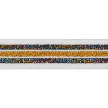 Elastique bande lurex   20mm à 40mm
