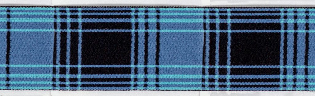 Elastique motif écossais    40mm