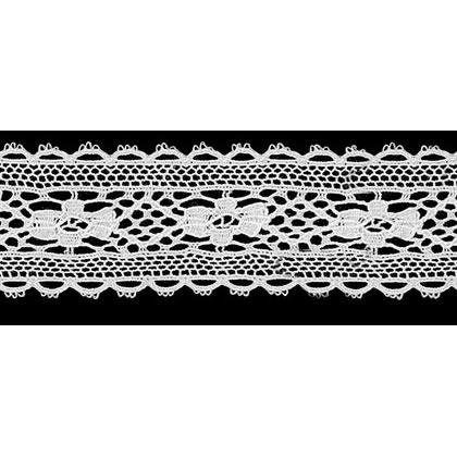 Dentelle au fuseau entre deux coton    26mm