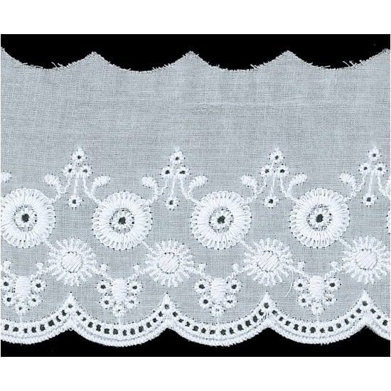 Broderie anglaise coton    80mm